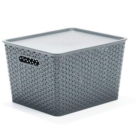 Storage Container with Lid Medium Grey KmartNZ