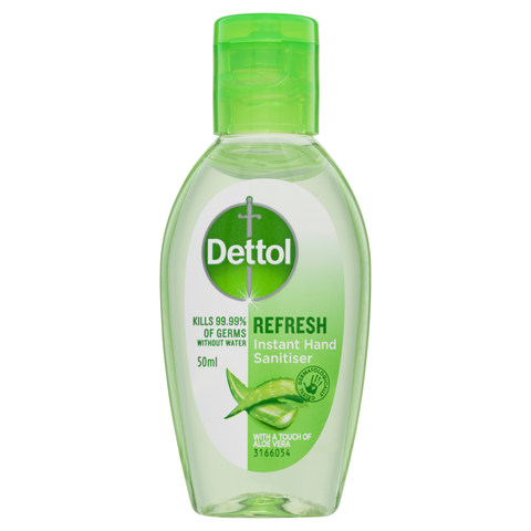 Dettol Refresh Instant Hand Sanitizer 50ml The Warehouse