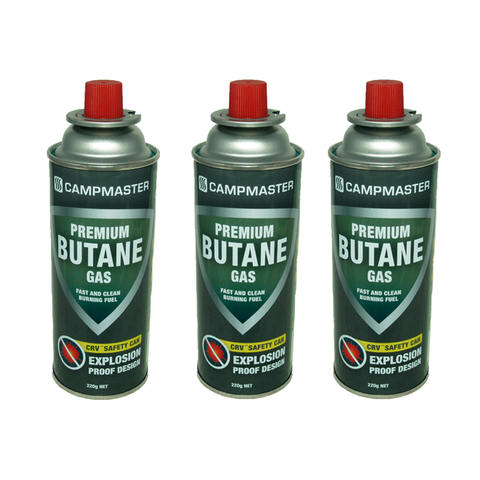Campmaster 3 Pack Premium Butane Gas Canisters | KmartNZ