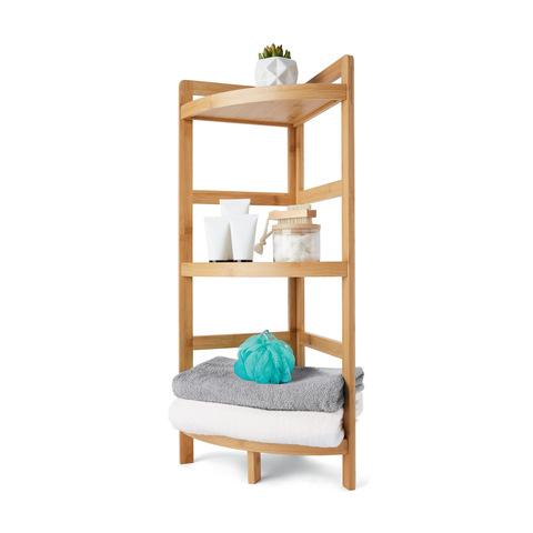 Bamboo 3 Tier Corner Shelf | KmartNZ