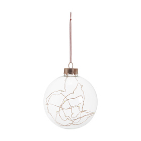 Glass Light Up Bauble