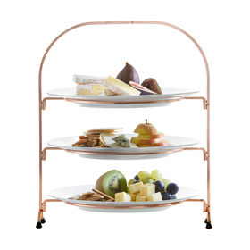 Wire 3 Tier Stand With Plates