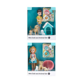 Mini Doll and Animal Set - Assorted