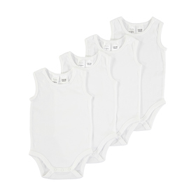4 Pack Basic Sleeveless Bodysuits
