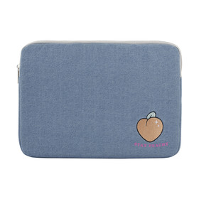 13in. Laptop Sleeve Chambray Peach