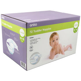 72 Pack Nappies for Toddlers