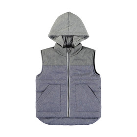 Contrast Panel Puffer Vest