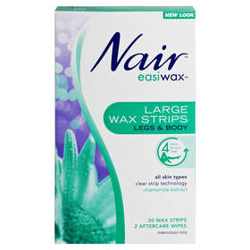 Nair 20 Pack Easiwax Large Wax Strips
