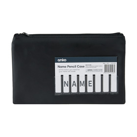 Black Small Name Pencil Case - WAS $0.75 on 08/08/17