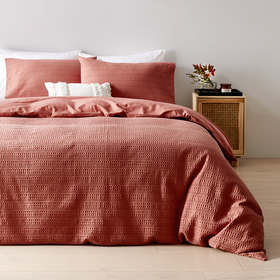 Makena Cotton Quilt Cover Set - Queen Bed