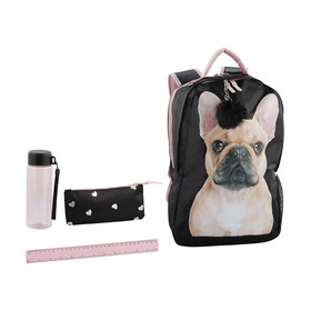 5 Piece Backpack Frenchie