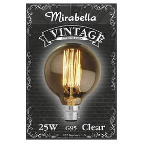 Mirabella Vintage Style Filament Bulb - Clear