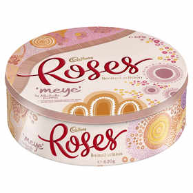 Cadbury Roses Limited Edition Chocolate Tin by Megan Hess 620g