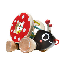 Lil Lady Bug Wooden Pull Along