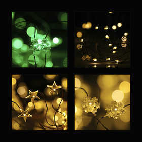 Battery Operated Novelty Wire String Lights - Assorted