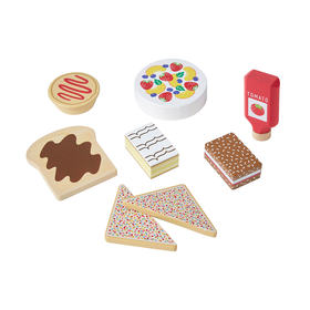 Wooden Iconic Food Set
