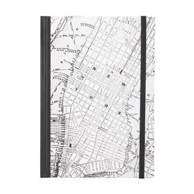 Hard Cover Journal - New York Map, A5