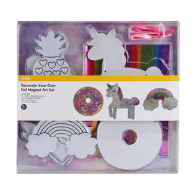 24 Piece Decorate Your Own Foil Magnet Art Set
