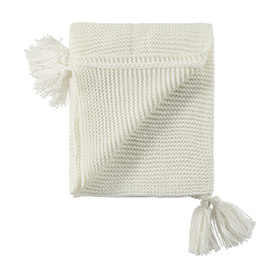 Giselle Tassel Throw - Creme
