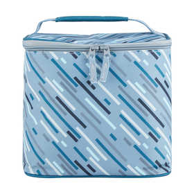 Insulated Top Loader Lunch Bag - Linear Print