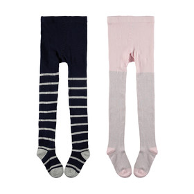 2 Pack Metallic Tights